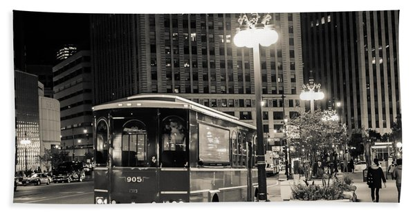 Chicago Trolly Stop Beach Towel