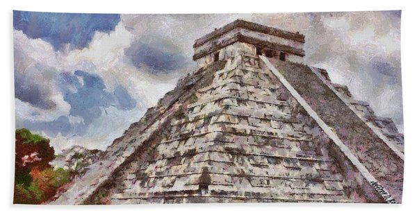 Chichen Itza Beach Towel