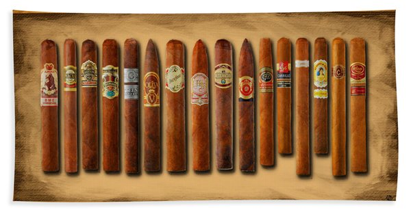 Cigar Sampler Painting Beach Towel