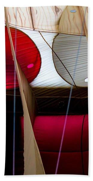 Circles Within Circles - Inside A Hot Air Balloon Beach Towel