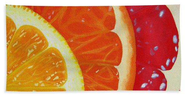 Citrus Hue Beach Towel