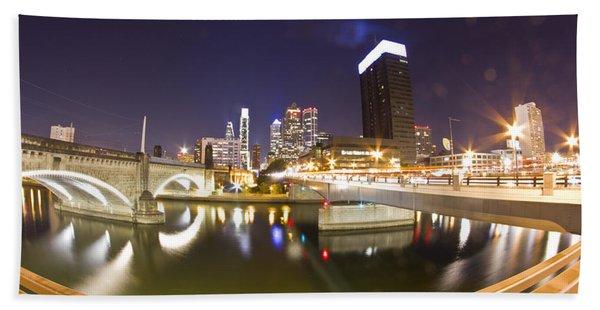 City's Reflection Beach Towel