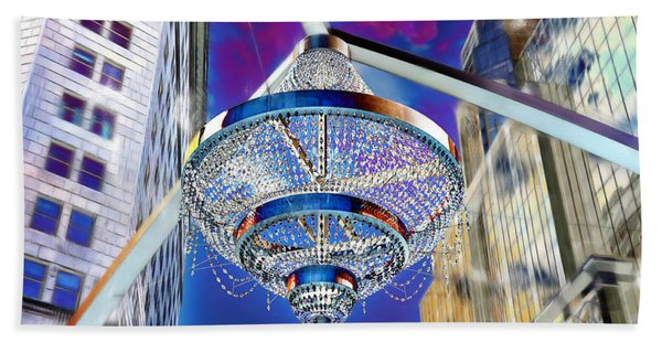 Cleveland Playhouse Square Outdoor Chandelier - 1 Beach Towel