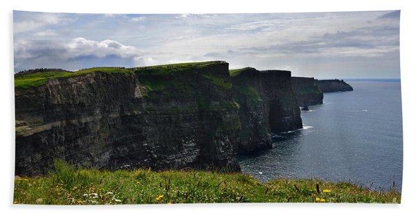 Cliffs Of Moher Looking South Beach Towel