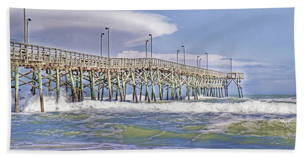 Clouds And Waves Beach Towel