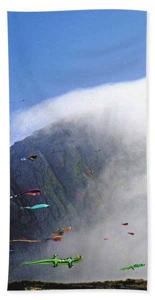 Coastal Kites Beach Towel