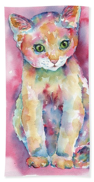 Colorful Kitten Beach Towel
