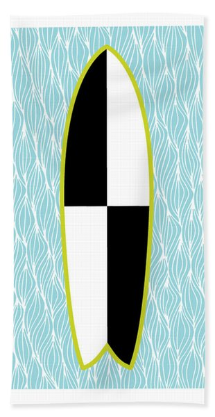 Colour Block Surfboard Beach Towel