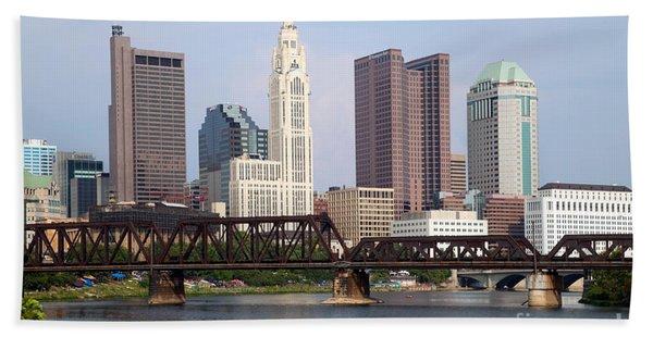 Columbus Ohio Downtown Skyline Beach Towel