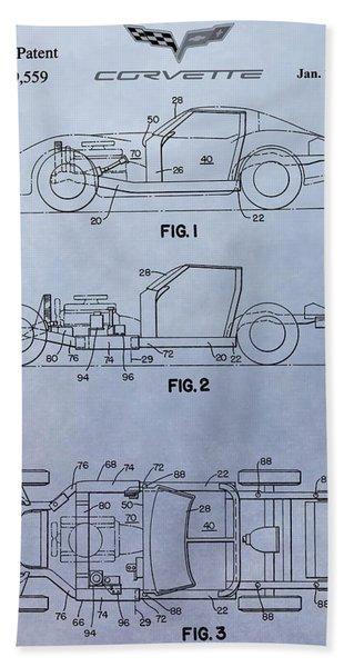 Corvette Patent Beach Towel