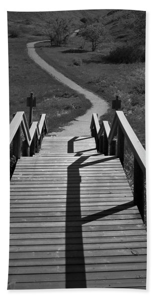 Coulee Stairs Beach Towel