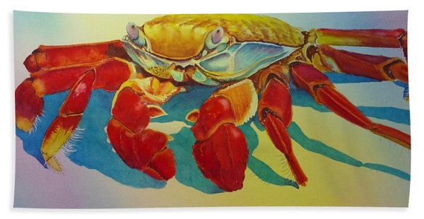Colorful Crab  Beach Towel
