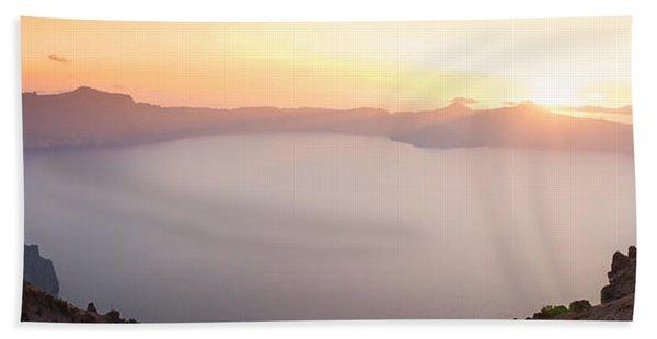 Crater Lake Panorama Beach Towel