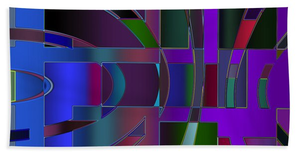 Curves And Trapezoids 2 Beach Towel
