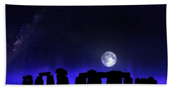 Beach Towel featuring the digital art Dark Henge by Mark Taylor