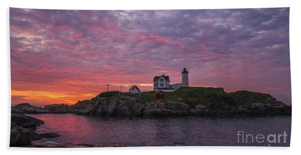 Dawn At The Nubble Beach Towel