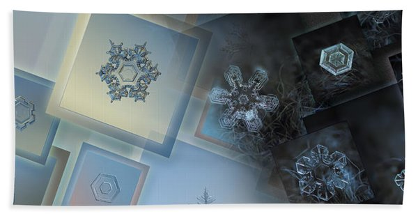 Snowflake Collage - Daybreak Beach Towel