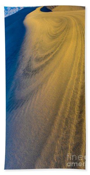 Death Valley Sunset Dune Wind Spiral Beach Towel