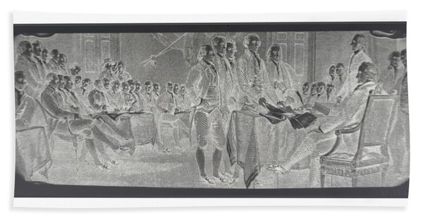 Declaration Of Independence In Negative Beach Towel