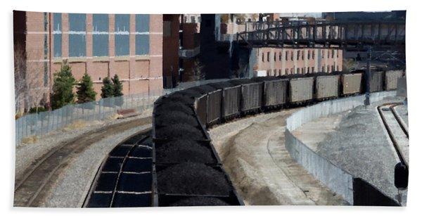 Denver Rail Yard Beach Towel