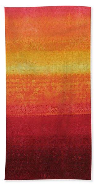 Desert Horizon Original Painting Beach Towel