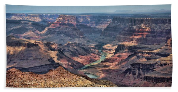 Beach Towel featuring the photograph Desert View by Jemmy Archer