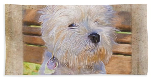 Dog Art - Just One Look Beach Towel