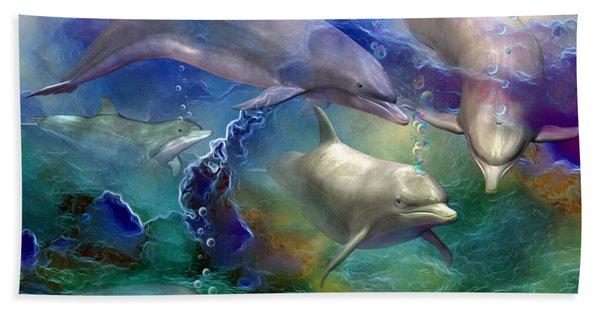 Dolphin Dream Beach Sheet