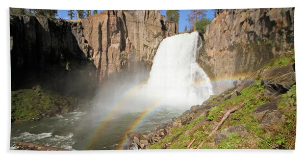 Double Rainbow Falls Beach Towel