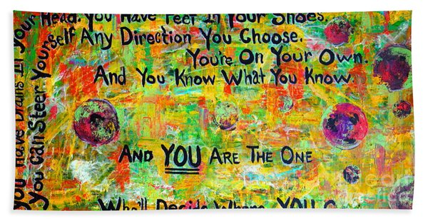 Beach Towel featuring the painting Dr. Suess by Jacqueline Athmann