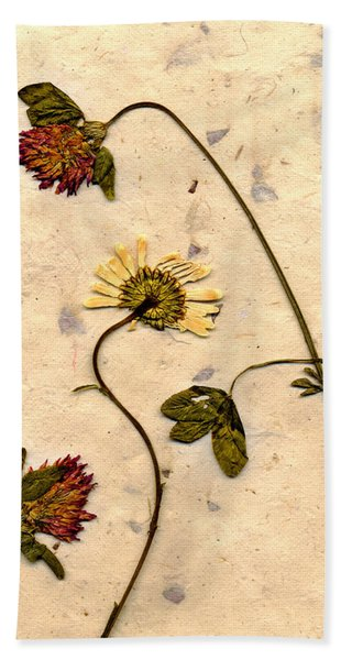 Dried Flowerrs 1 Beach Towel