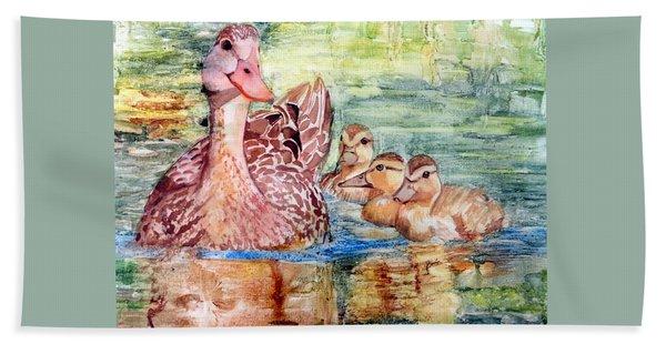 Duck Family Beach Towel