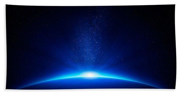 Earth Sunrise In Space Beach Towel