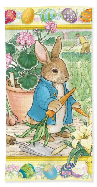 Easter Bunny Beach Sheet