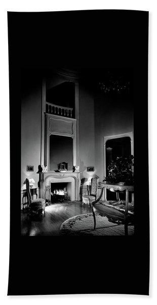 Entrance Hall Of Joan Bennett And Walter Wagner's Beach Towel