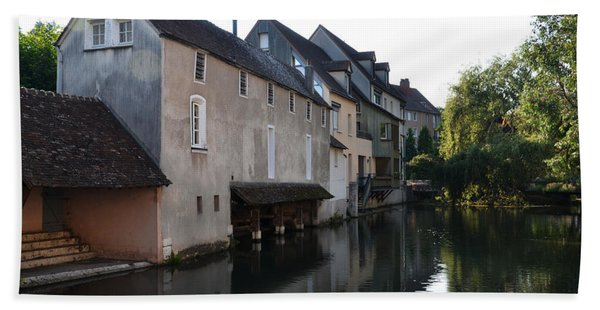 Eure River And Old Fulling Mills In Chartres Beach Towel