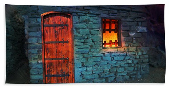 Beach Towel featuring the photograph Fairy Tale Cabin by Gunter Nezhoda