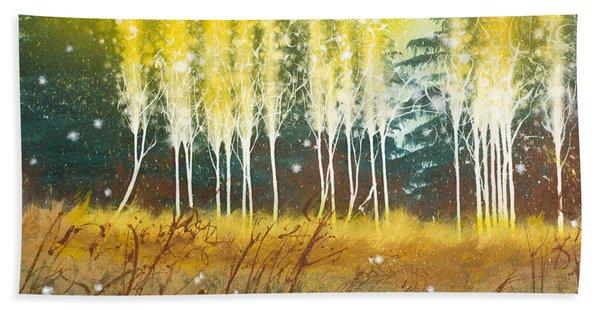 Fairy Trees Beach Towel