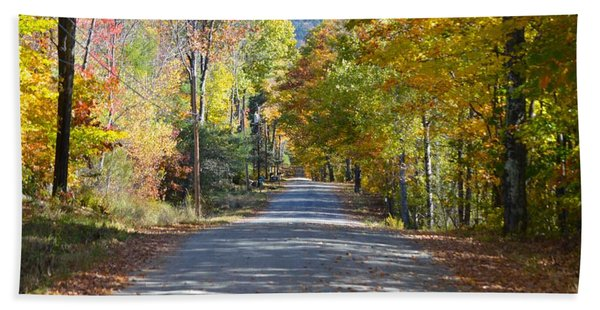 Fall Backroad Beach Towel
