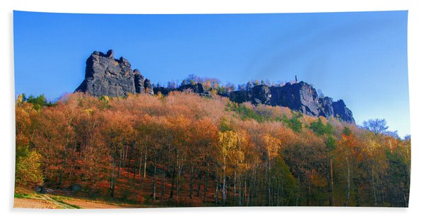 Fall Colors Around The Lilienstein Beach Towel