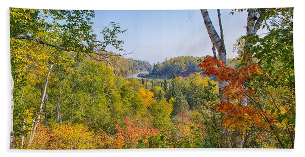 Fall In Gooseberry State Park Beach Towel