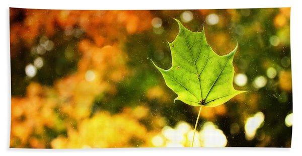 Falling Leaf Beach Towel