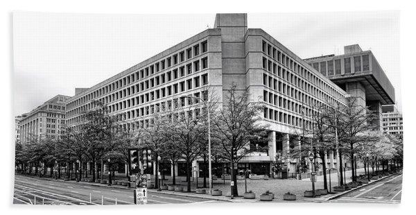 Fbi Building Front View Beach Towel