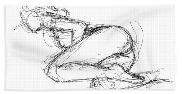 Female-erotic-sketches-8 Beach Towel