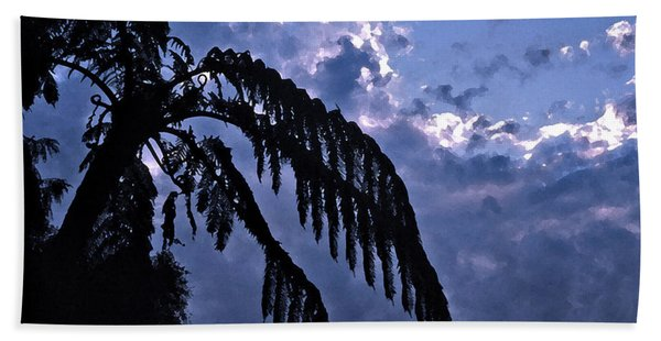Fern At Twilight Beach Towel