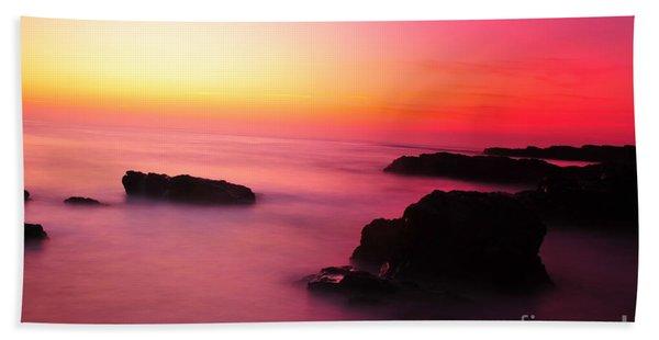 Fine Art - Pink Sky Beach Sheet