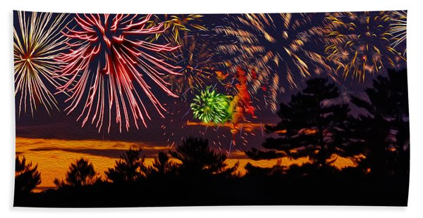 Fireworks No.1 Beach Towel