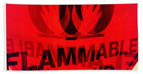 Flammable Liquid Beach Towel