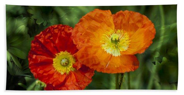 Beach Towel featuring the photograph Flowers In Kodakchrome by Gunter Nezhoda