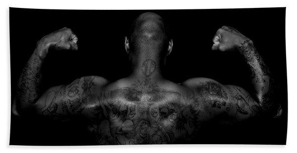 Body Art Beach Towel